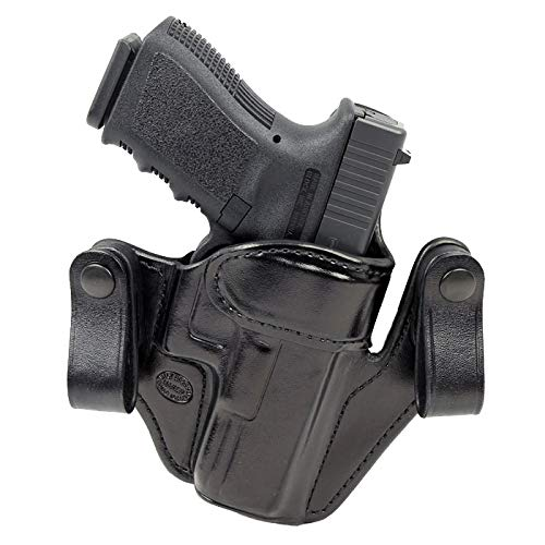Milt Sparks IWB Holster Custom Premium Handcrafted Black Cowhide Leather Concealed Carry VM-2 Compatible with Glock 19 (Gen 1-5) - Inside The Waist Band Right Handed