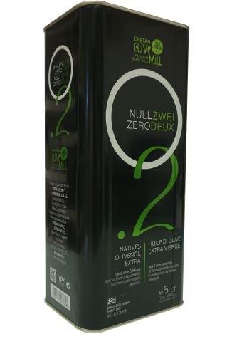 Griechisches extra natives Olivenöl mit nur 0,2% Säuregehalt im 5 Liter Kanister Kreta Griechenland Premium Feinschmecker Gourmet Oliven Öl mit wenig Säure