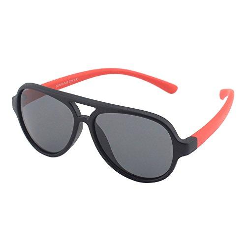 CGID Gummi Flexible Kinder Polarisierte Fliegerbrille Pilotenbrille für Baby und Kinder im Alter von 3-6, K93