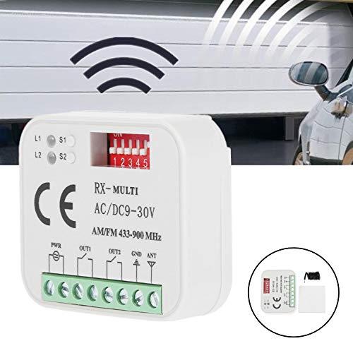 Duokon Universal Kunststoff Garagentor Tür Fernbedienung Passender Empfänger für SMG-662MRX BFT, FAAC, Sommer 300-900MHZ