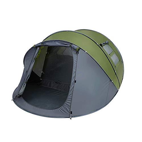 QQLK Tente instantanée - Tente à Ouverture Rapide Automatique, Double Couche D'éCran Solaire Anti-Pluie Double Couche pour 4 à 6 Personnes, Grand Espace,Green