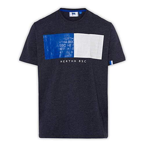 Hertha BSC Berlin Schriftzug T-Shirt (L, Schwarz)