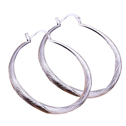 joyliveCY Pendientes de tuerca de plata de ley 925, diseño de círculo pequeño