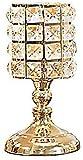IUYWL Candela/Holder MUMA Cena a lume di Candela Oro Moderna semplicità Decorazioni in Cristallo Invia Candele (a Colori, Dorato) (Size, Tre Pezzi), Piccolo Piatto (Size : Small)