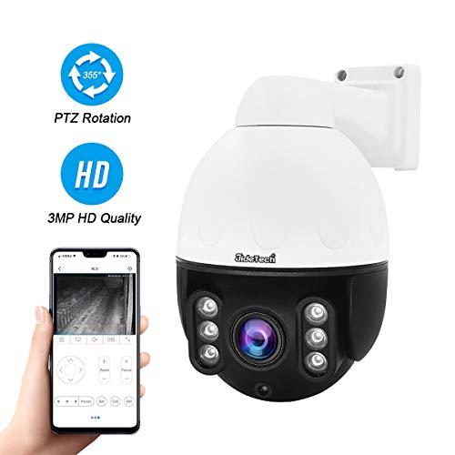 PTZ POE IP-camera buiten, HD 3MP H.265 bewakingscamera met 4X optische zoom, IR nachtversie, ondersteuning ONVIF 2.4