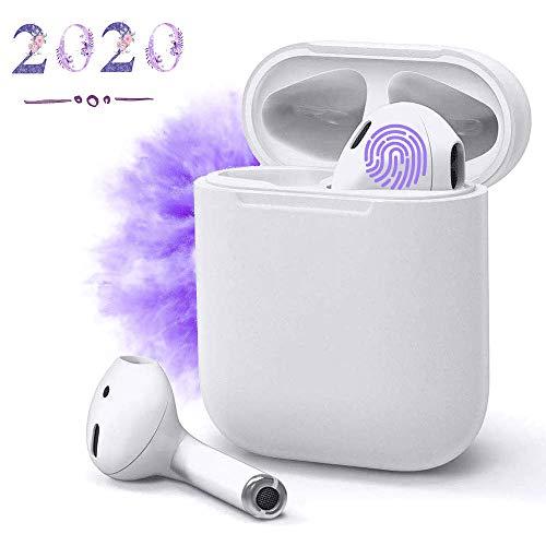 Auricolare Bluetooth 5.0,Cuffie Senza Fili,Cuffie Wireless Stereo 3D with IPX5 Impermeabile,Accoppiamento Automatico Per Chiamate Binaurali,Adatto Compatibile con iPhone/Apple AirPods/Android