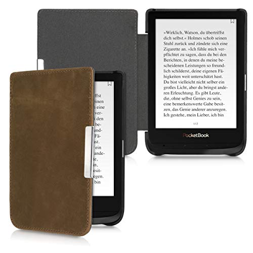 kalibri Pocketbook Touch Lux 4/Lux 5/Touch HD 3/Color (2020) Hülle - Leder eBook eReader Schutzhülle Cover Hülle für Pocketbook Touch Lux 4/Lux 5/Touch HD 3/Color (2020)