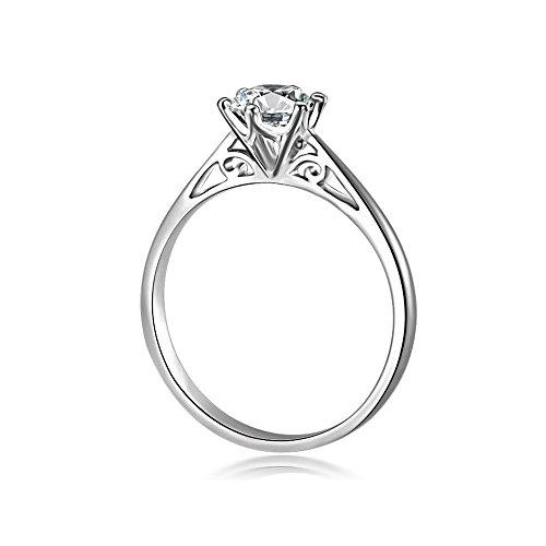 Uloveido Mujer Plata Crystal