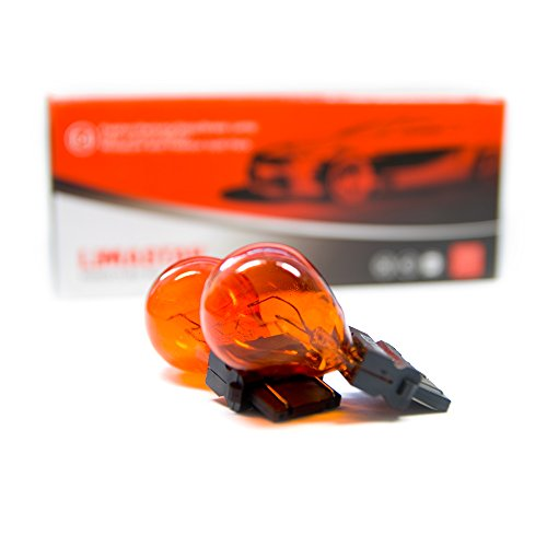 10 bombillas W2.5x16q PY27/7W 3157 para coche 27/7W Amarillo Naranja 12V 3757A