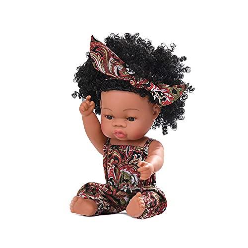 LXTIN Muñeca de Juguete de Silicona Realista, 1 Pieza de muñeca de Juego de bebé de simulación de 13,8 Pulgadas, Regalo de cumpleaños para niños, A
