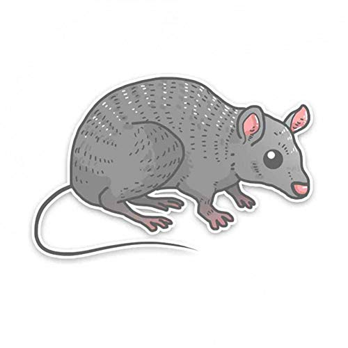 GQQ auto sticker 15,5 * 10 cm op zoek naar voedsel grijs muis Pvc dier auto sticker stickers beste kleine geschenken voor auto liefhebbers A