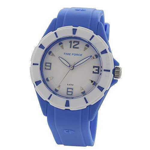 Time Force Reloj Analógico para Mujer de Cuarzo con Correa en Caucho TF4152L03