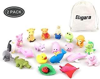 Bheddi Puzzle Erasers Kids (40 Pcs), Fun Animal Kawaii Take-Apart Eraser, Mini Cute School Eraser Supplies, Good Prize Kids, Eraser Toys Fun Collection