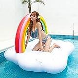 JINGJING Cama hinchable flotante flotante unisex de PVC flotante serie hamaca Rainbowcloud