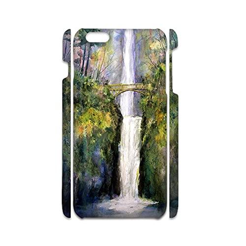 Desconocido Compatible para Apple iPhone 7 8 Hermosa Tener con Water Flow Waterfall para Mujeres Conchas Duras Abdominales