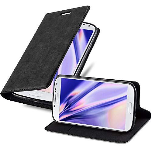 Cadorabo Funda Libro para Samsung Galaxy S4 Mini en Negro Antracita - Cubierta Proteccíon con Cierre Magnético, Tarjetero y Función de Suporte - Etui Case Cover Carcasa