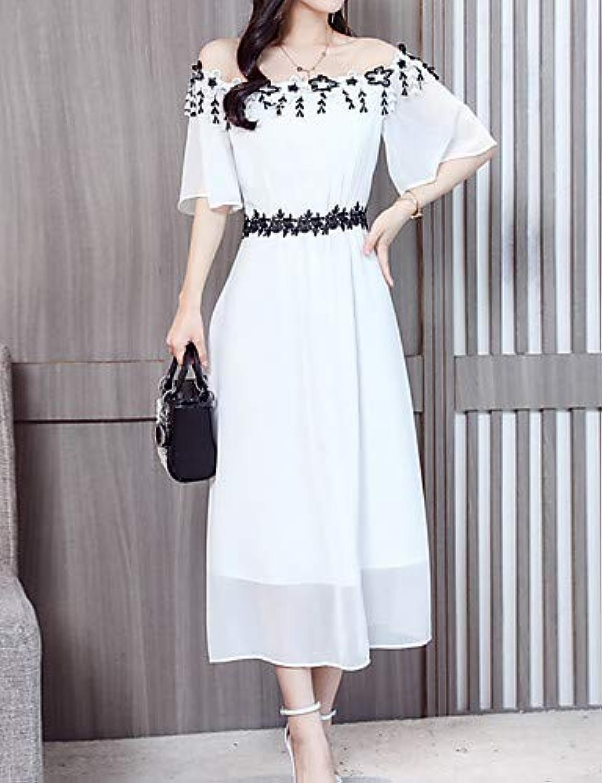 Women's Sheath Dress  color Block Lace