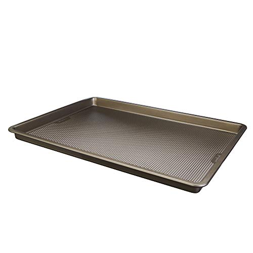 Good Cook Aluminized Steel DiamondInfused NonStick Coated Textured Bakeware Large Cookie sheet champagne pewter