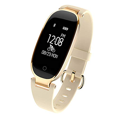 Smart Watch 2019 Fashion Smart Watch Dames IP67 waterdicht hartslagbewaking hartslagmeting Relogio Smartwatch iOS Android Stuur het beste cadeau van vrouw XUMIN, Een