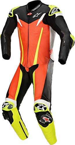 Alpinestars GP Tech v3 Tech-Air - Mono de piel para moto (1 pieza), color negro y rojo
