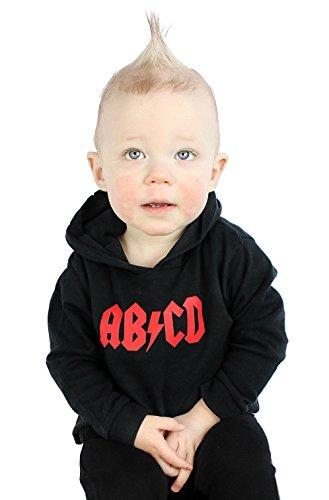 AB/CD Rock n Roll Camiseta con Capucha para niños o niñas - Camiseta de Manga Larga para niños/bebé Divertida (6-12 Meses)