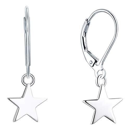YL Orecchini pendenti a stella in argento 925 per donne ragazze