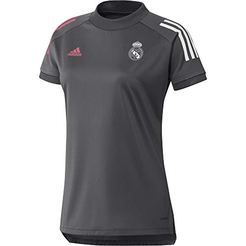 Adidas Real Madrid Temporada 2020/21 Camiseta Entrenamiento Oficial, Mujer, Gris, XXL
