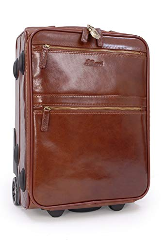ASHWOOD - Vera Pelle - Borse Business/Messenger a Tracolla per Lavoro/Borsello Uomo - Con Scompartimento Per PC Laptop Portatile - 79014 - CASTAGNA MARRONE