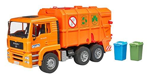 Bruder 2760 - MAN camiones de basura, naranja , color/modelo surtido
