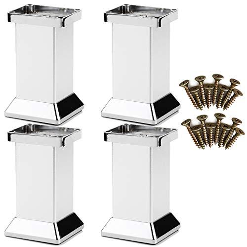 LXS 4 × Möbelfüße/Stützfüße, Metallfüße Schrankfüße Küchenzubehör, Sofabetten weiches Bett/Couchtisch/TV-Schrankfüße/Schrank/Schrankfüße/Küchenfüße