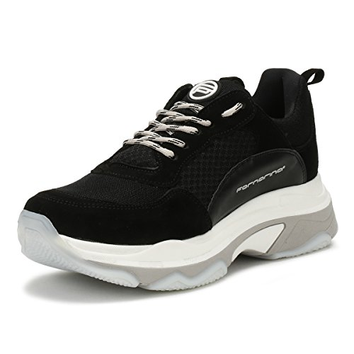 Fornarina Womens Black Super 4 Chunky Trainers-UK 6