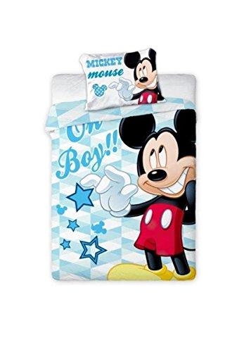 Disney Micky Maus Baby Wende Bettwäsche 100x135cm 100% Baumwolle (M05)