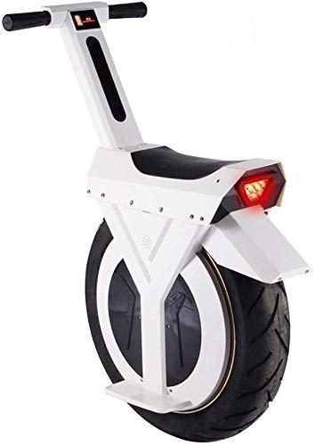 JILIGUALA Monociclo Elettrico, 17', 60V / 500W, Scooter elettrici, Elettrico 90 km con Gli Altoparlanti Bluetooth, E-Scooter, Scooter Auto-Auto-bilanciamento Monociclo Equilibrio Unisex Adulto (Dim.