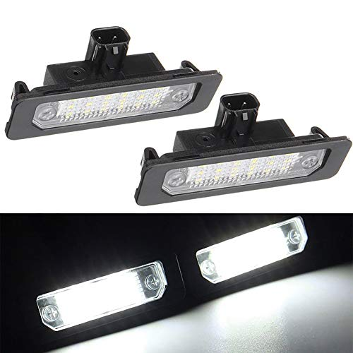 Xinctai 2PCS LED Rear Number License Plate Light Lamp For Ford Mustang Focus Fusion Flex Mercury sable milan Lincoln MKS MKT MKX MKZ OEM 8T5Z13550B 8T5Z13550A