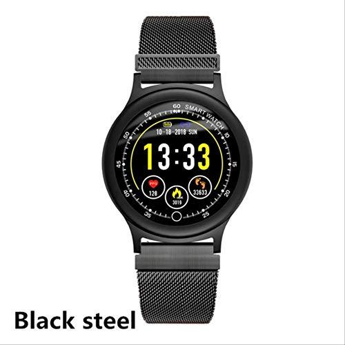 ZHOUMEI Práctico Reloj Inteligente Pulsera Resistente al Agua Pulso Deporte Fitness Monitor de sueño podómetro Smartwatch Hombres Mujeres Moda Smart Wear (Color: Plata, Acero)