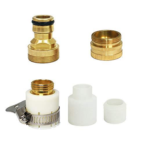 蛇口ニップル 散水コネクタ 多種類蛇口に対応 ワイヤーホースバンド付き メタル 口金 耐用