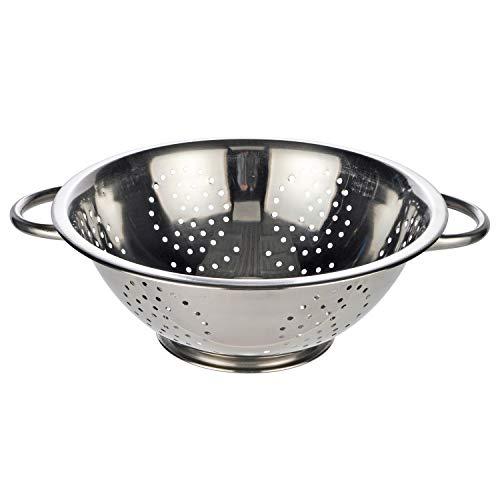 Land-Haus-Shop Küchensieb, Abtropfsieb Edelstahl Salat Seiher Sieb 24cm massiv, für Salat Nudeln und mehr