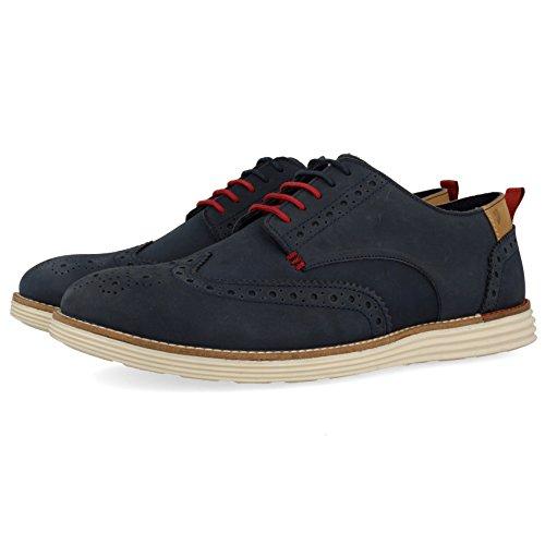 Gioseppo 43514, Zapatos de Cordones Derby Hombre, Azul (Marino), 45 EU