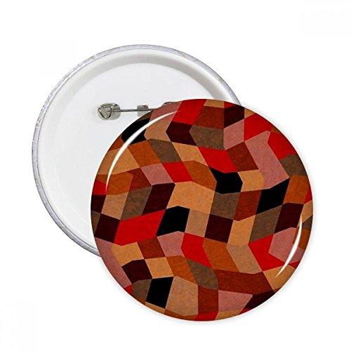 DIYthinker Diamond Polygon Tegel Kleurrijke Patronen Ronde Pins Badge Knop Kleding Decoratie Gift 5 Stks XXL Multi kleuren
