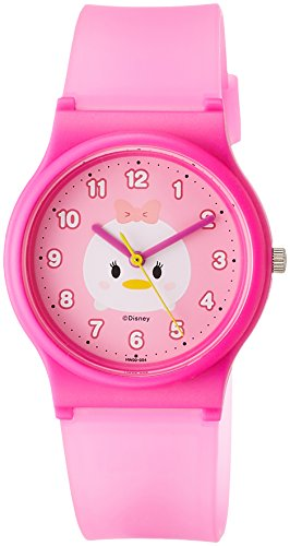 [シチズン Q&Q] 腕時計 ディズニー コレクション TSUMTSUM デイジーダック HW00-004 ガールズ ピンク