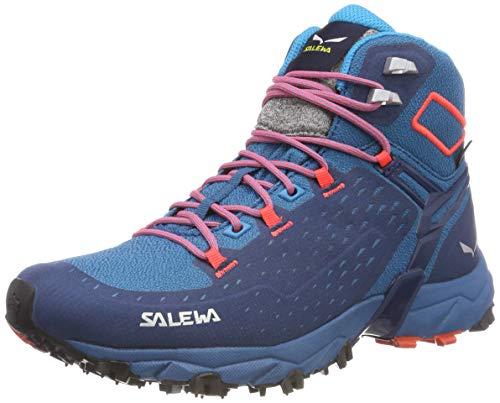 Salewa 00-0000064417 Damen WS Alpenrose Ultra Mid Gore-Tex Trekking-& Wanderstiefel, Blau (Blue Sapphire/Fluo Coral 8363), 40 EU