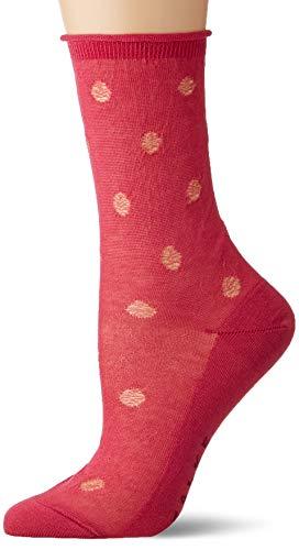 FALKE Damen Socken Prestige Dot, 80% Baumwolle, 1 Paar, Braun (Pink Up 8218), Größe: 37-38