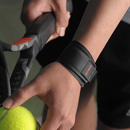 Aider Wrist Brace, Grip Master for tendonitis & Rocket Sports Like Badminton, Tennis, Table Tennis (Left)