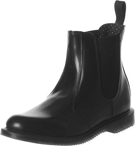 Dr.Martens Womens Flora Polished Smooth Black Leather Boots 8.5 US