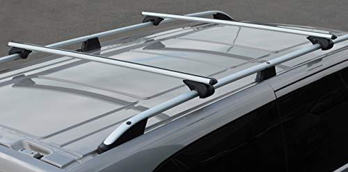 Alvm Parts & - Accesorios de Barra Cruzada para rieles de Techo para Adaptarse al tránsito Personalizado (2012 +) 100 kg con Cerradura