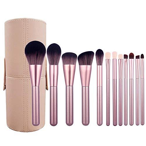 Ensemble De Pinceaux De Maquillage 12Pcs Surligneur Poudre À Paupières, 12Pcs J