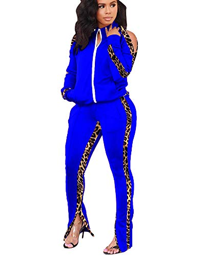 2 Piece Outfits for Women Tops Jackets and Pants Set Zipper Tracksuits...