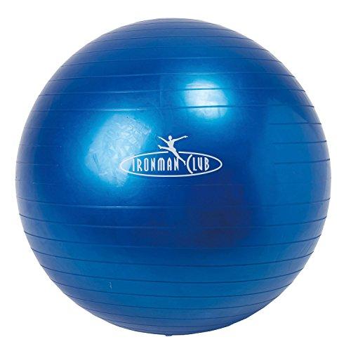 IRONMAN CLUB(鉄人倶楽部) ヨガ ボール 65cm ブルー IMC-32 ポンプ付 バランス トレーニング