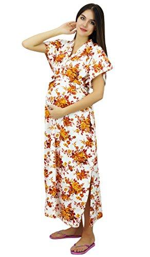 Bimba Livraison maternité Robe Coton Maxi de, Robe Avant et arrière Bouton