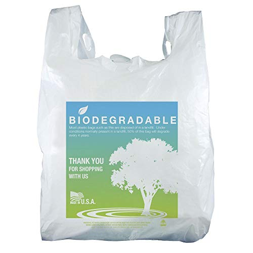 Plastic T-Shirt Shopping Bags Eco-Friendly Case of 1000